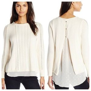 Lucky Brand | layered pullover sweater - size S